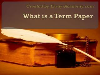 What is a Term Paper