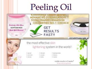 Peeling oil