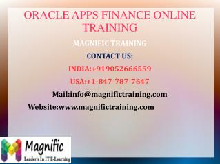 Oracle apps finance online training certification