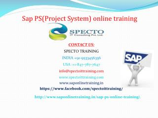 sap ps online training in usa