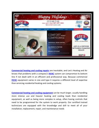 Commercial heating and cooling repairs