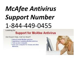 McAfee Antivirus Support Number 1-844-449-0455