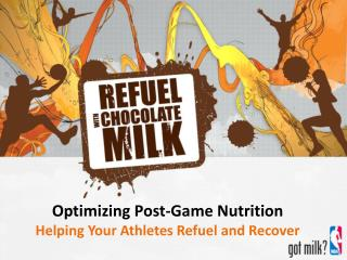 Optimizing Post-Game Nutrition