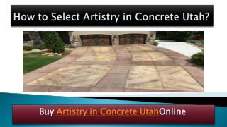 Artistry in concrete utah