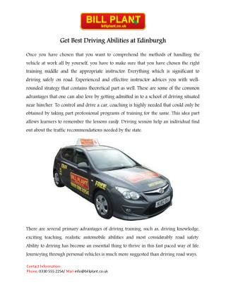 Driving lessons Edinburgh