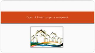 Types of rental property management