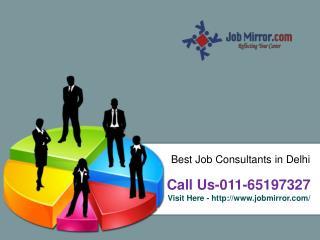 Best Job Consultants in Delhi : 011-65197327