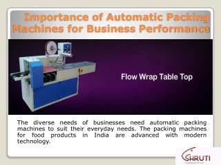 Importance of Automatic Packing Machines for Business Performance