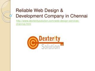 Reliable Web Design & Development Company in Chennai