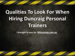 Qualiting To Look For When Hiring Duncraig Personal Trainers