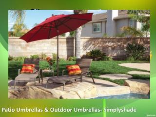 Patio Umbrellas & Outdoor Umbrellas- Simplyshade