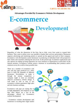 Advantages Provided By Ecommerce Website Development