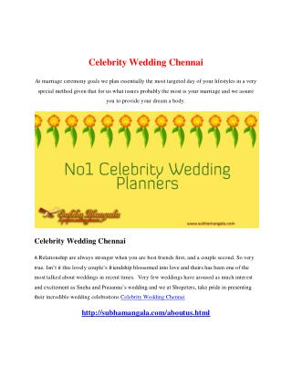 Celebrity Wedding Chennai