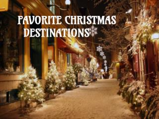 Christmas Travel Destinations