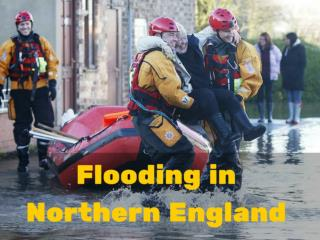 Flooding in northern England