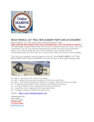 BEACH WHEELS - Online marine store