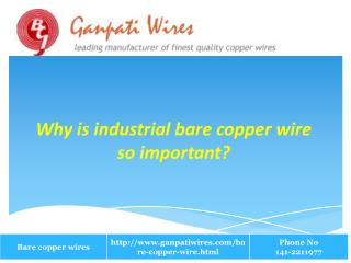 Why industrial bare copper wire is so important?