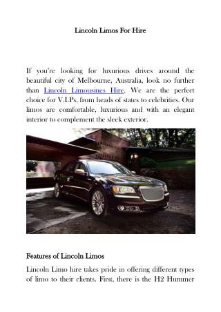 Linocl limos for hire