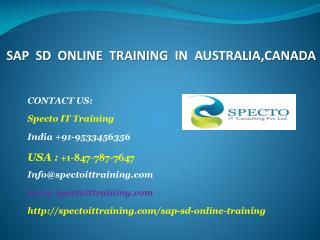 sap sd online training in australia,canada
