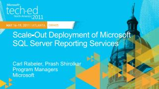 Scale-Out Deployment of Microsoft SQL Server Reporting Services