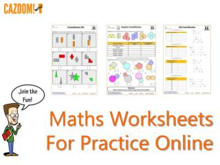 Maths Worksheets For Practice Online