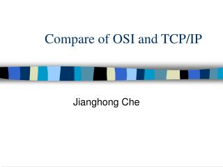 Compare of OSI and TCP/IP
