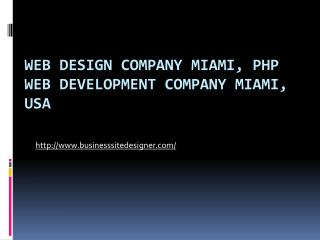 Web Design WordPress E-commerce PHP Development Company