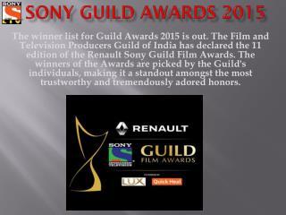 Watch Renault Sony Guild Film Awards Online - SonyLiv