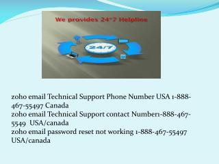@@ zoho email technical support 1 888 467 5549 phone number
