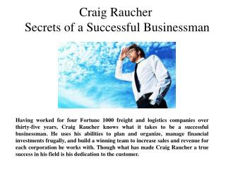 Craig Raucher-Secrets of a Successful Businessman