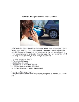 What to do if you meet a car accident?