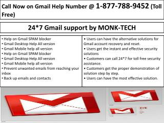 "Gmail Tech Support-Ever Green Service(24/7) ""1-877-788-9452"""