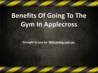 Benefits Of Going To The Gym In Applecross