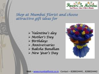 Send Online Flowers & gifts to Mumbai