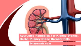 Ayurvedic Remedies For Kidney Stones, Herbal Kidney Stone Breaker Pills