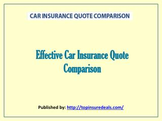 Effective Car Insurance Quote Comparison