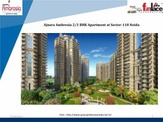 Ajnara Ambrosia 2 BHK Apartments at Noida Sector-118
