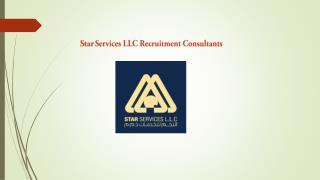 Star Services Recruitment Consultant
