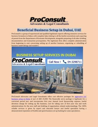 Beneficial Business Setup in Dubai, UAE