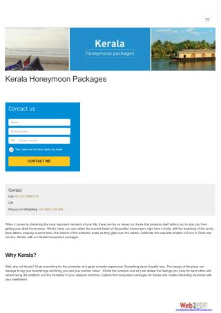 Things to know about kerala honeymoon destination