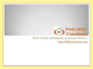 Registered HACCP instructor & SQF Consultant