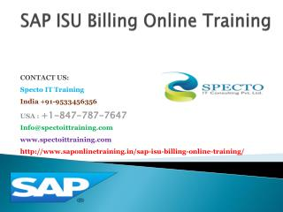sap isu billing online training in singapore