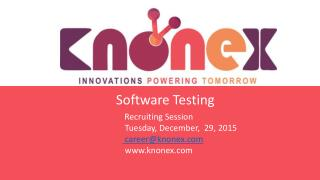 Knonex software testing