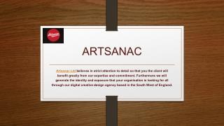 Artsanac: website and graphic designers UK