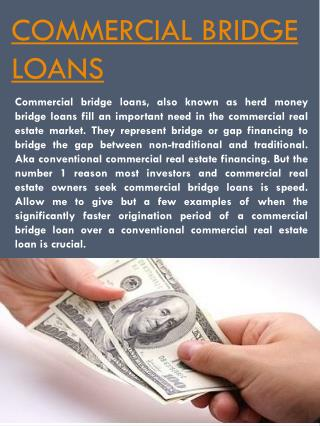 Commercial Bridge Financing