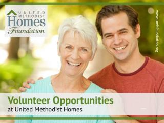 Volunteer Opportunities at United Methodist Homes of New Jersey