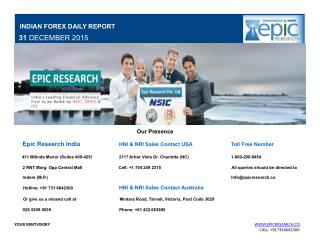Epic Research Daily Forex Report 31 Dec 2015
