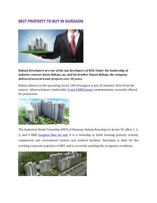 Best Property to Buy in Gurgaon