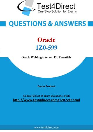 Oracle 1Z0-599 Exam - Updated Questions
