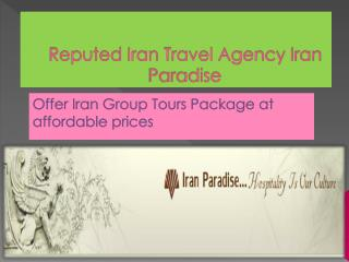 Get Iran Group Tours Package